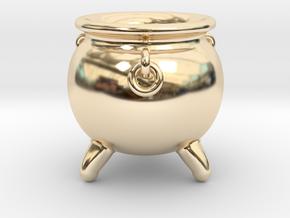 Cauldron miniature in 14K Yellow Gold
