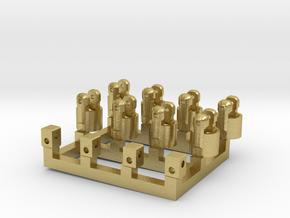 4x Kardangelenk  Klein  Außendurchmesser 2,8mm in Natural Brass
