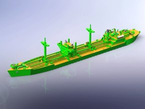 IJN Type 2A Standard Cargo Ship 1/1250 in Smooth Fine Detail Plastic