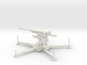1/72 IJA Type 88 75mm anti-aircraft gun in White Natural Versatile Plastic