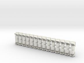 1:22,5 1503 Negenoog rechtdoor (28x zelfbouw) in White Natural Versatile Plastic