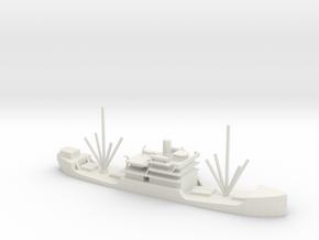 1/600 Scale 3000 DW ton Cargo Steamer Atlantus in White Natural Versatile Plastic