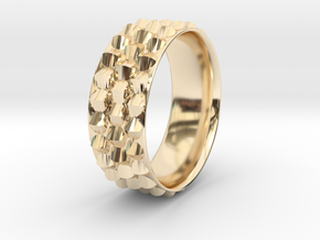 Dragon Scales Ring in 14K Yellow Gold: 6 / 51.5