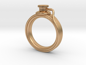 Stethoscope Ring in Natural Bronze: 4 / 46.5
