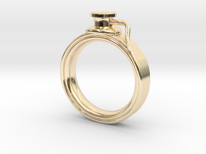 Stethoscope Ring in 14k Gold Plated Brass: 4 / 46.5