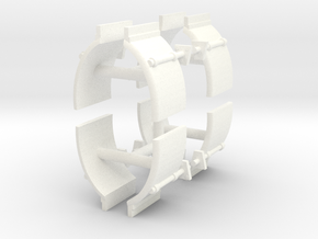1/50th Truck Quarter Fenders smooth, 4 sets in White Processed Versatile Plastic