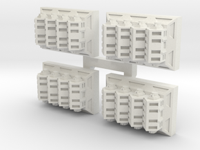 Hanger Bays V1 x 4 in White Natural Versatile Plastic