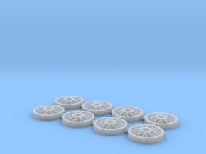 BBS Wheel Face for Metal Barrel 1:64 Wheels in Smooth Fine Detail Plastic