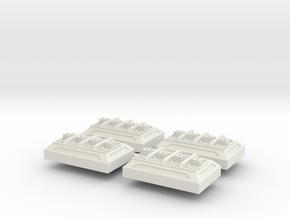Weapon Battery V1 x 4 in White Natural Versatile Plastic