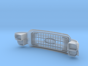 Front Grille and Lights 1/10 Ford Excursion / F-Se in Smooth Fine Detail Plastic