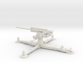 1/72 IJA Type 4 75mm Anti-aircraft Gun in White Natural Versatile Plastic