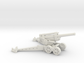 1/144 Obice da 210/22 210mm Howitzer in White Natural Versatile Plastic