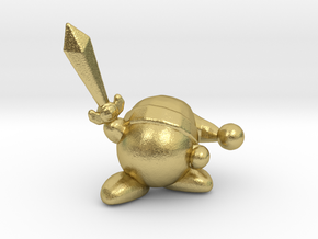 Kirby with Sword 1/60 miniature for games and rpg in Natural Brass