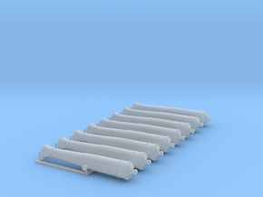1/72 Canons de 6£ -1766- X8 in Smooth Fine Detail Plastic