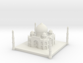 Taj Mahal 1/1250 in White Natural Versatile Plastic