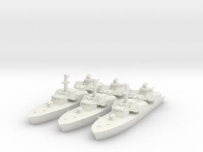 OSA-1 Missile boat 1:700 & 1:350 in White Natural Versatile Plastic: 1:700