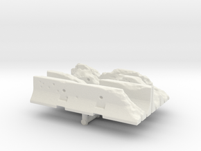 Damaged Jersey barrier (x4) 1/56 in White Natural Versatile Plastic