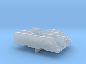 Damaged Jersey barrier (x4) 1/48 in Smooth Fine Detail Plastic