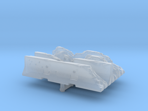 Damaged Jersey barrier (x4) 1/285 in Smooth Fine Detail Plastic