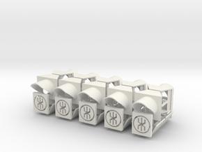 1:22,5 1504 Wisselstandsein 10x zelfbouw exterieur in White Natural Versatile Plastic