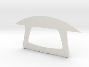 Ulu Knife in White Natural Versatile Plastic