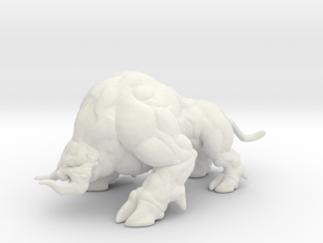 Ganon Giant Hog Beast 1/60 miniature games and rpg in White Natural Versatile Plastic