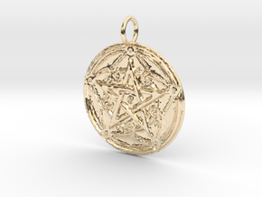 Creator Pendant in 14K Yellow Gold