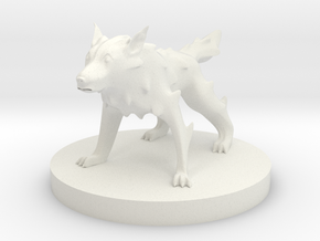 Wolf - Midnight Wolf in White Natural Versatile Plastic
