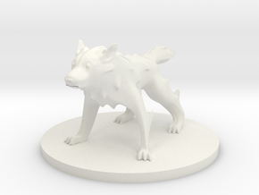 Wolf - Giant Wolf in White Natural Versatile Plastic
