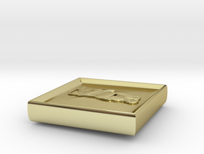 Standing Bear Square in 18K Yellow Gold
