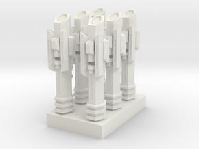 atlantis 16 - spare parts tower in White Natural Versatile Plastic