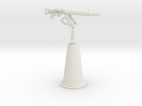 1/30 IJN Type 92 7.7mm Single Mount AA in White Natural Versatile Plastic