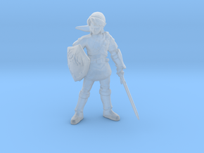 Link Hero 1/60 miniature for fantasy games dnd rpg in Smooth Fine Detail Plastic