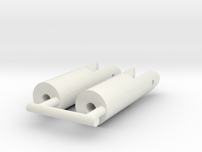 Karmfork 8 mm (1pcs) in White Natural Versatile Plastic