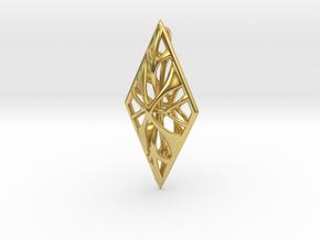Lozenge Pendant in Polished Brass