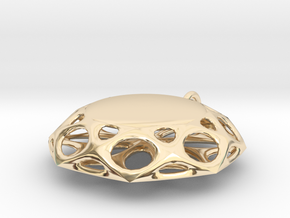 Abstract Flower Pendant in 14K Yellow Gold