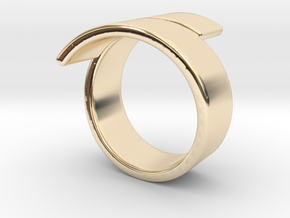 Band spiraled [sizable ring] in 14k Gold Plated Brass