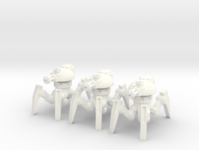 6mm - Anti Infantry Spider Bot in White Processed Versatile Plastic