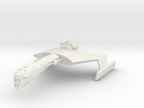 Klingon BattleCruiser I in White Natural Versatile Plastic