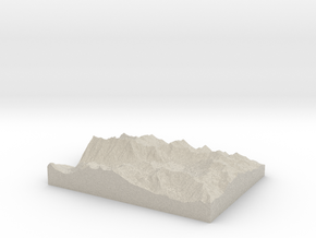 Model of Quincy Mines in Natural Sandstone