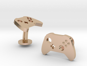 Xbox Controller Cufflinks in 14k Rose Gold Plated Brass