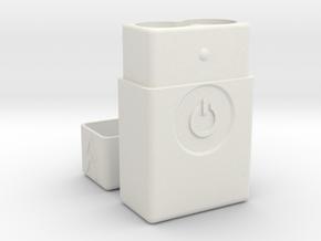 Power Battery Vape Flask V3 18650-21700  in White Natural Versatile Plastic