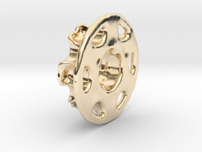 Vertical Chain Control Gear 002B  in 14k Gold Plated Brass