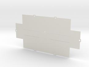 ZX-KEY Keyboard Case 'Bottom Plate' in White Natural Versatile Plastic