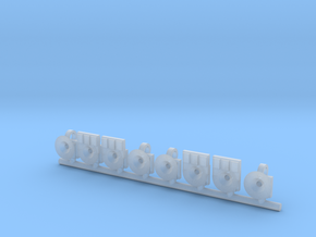 lampe fin de convois SNCB MNSB 8 pièces in Smooth Fine Detail Plastic: 1:87 - HO