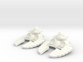 Space Elf - Crystal Blaster Turret in White Processed Versatile Plastic