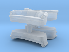 Sofa (4 pieces) 1/72 in Smooth Fine Detail Plastic