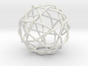 Knotty fullerene in White Natural Versatile Plastic