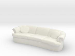 Sofa 1/43 in White Natural Versatile Plastic
