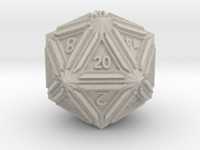 Dice: D20 edition1 in Natural Sandstone